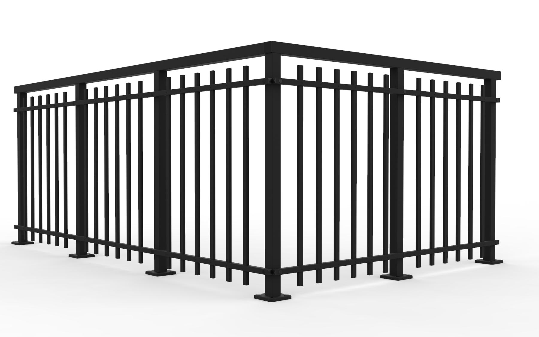 Alu Retro – Modernes Staketengeländer