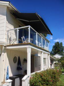 Glasräcke balkong