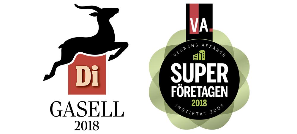 Di Gasell och VA Superföretag 2018