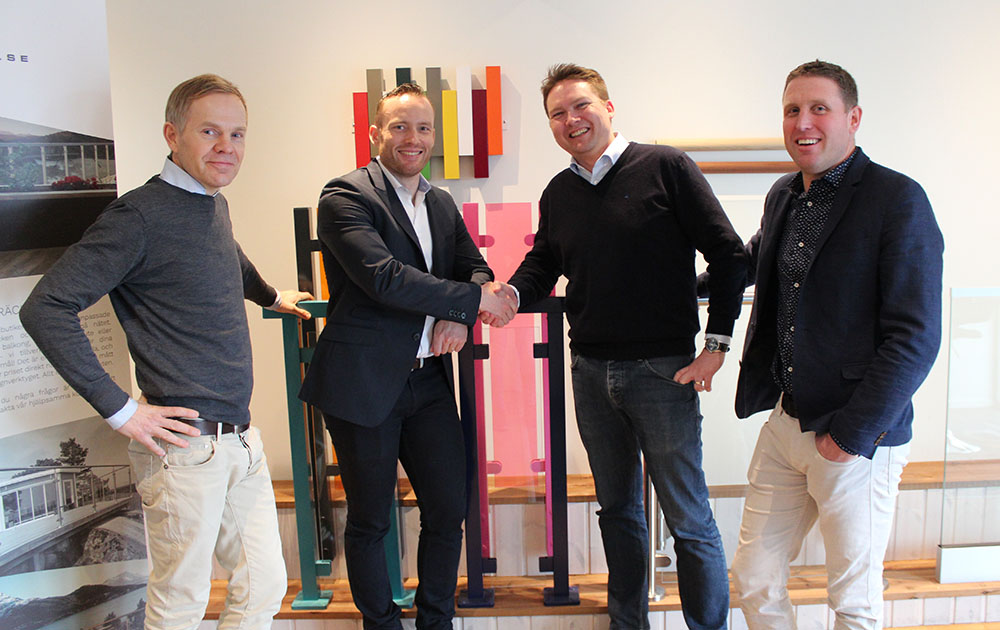 Grundarna av Räckesbutiken skakar hand med Beijerinvest
